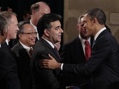 CEO in chief: President Obama at the U.S. Chamber of Commerce last Monday.